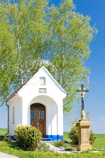 chapel with a cross, Vlcnov, Czech Republic Stock photo © phbcz