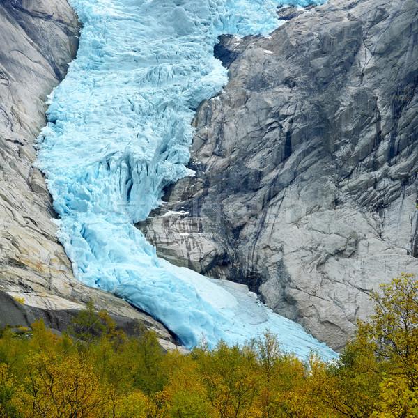 Gleccser park Norvégia hó hegyek tájképek Stock fotó © phbcz