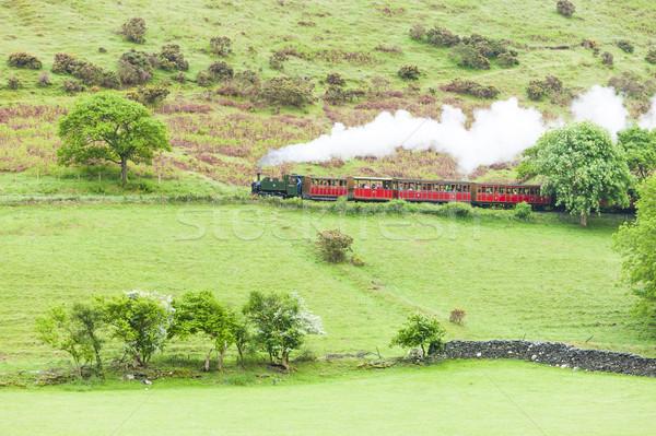 пар поезд железная дорога Уэльс Европа улице Сток-фото © phbcz