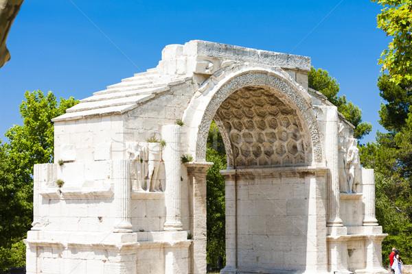 Roman Triumphal arch, Glanum, Saint-Remy-de-Provence, Provence,  Stock photo © phbcz