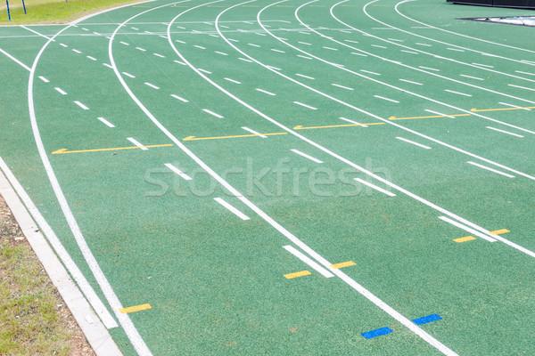 Atletismo seguir estrada fundo corrida lazer Foto stock © phbcz