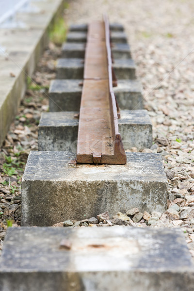 out of action track on Laigh Milton Viaduct, East Ayrshire, Scot Stock photo © phbcz