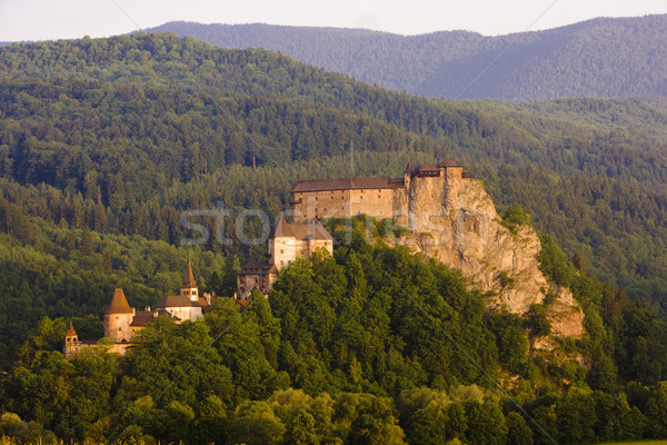 Castelo Eslováquia edifícios arquitetura história ao ar livre Foto stock © phbcz