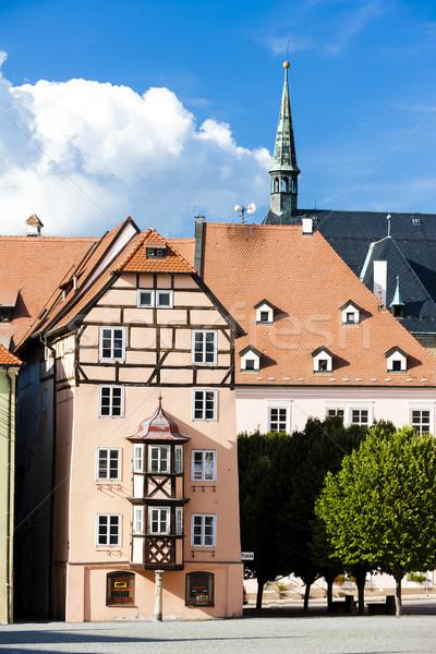 複雑な 中世 住宅 チェコ共和国 家 建物 ストックフォト © phbcz
