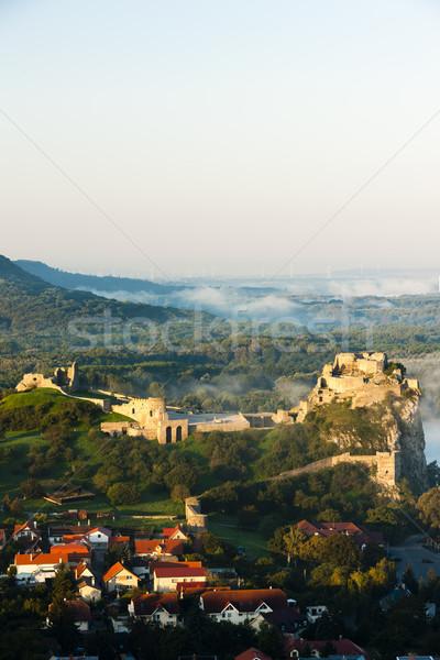 Ruiny zamek Słowacja budynku architektury Europie Zdjęcia stock © phbcz