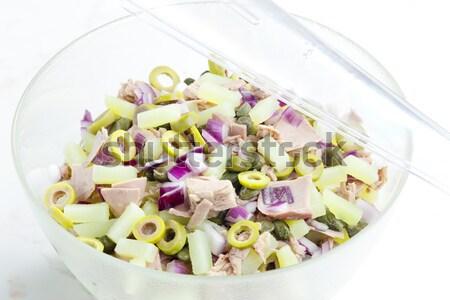 Mediterraneo insalata di patate tonno pesce alimentare insalata Foto d'archivio © phbcz