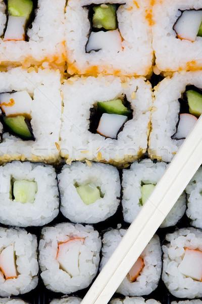 суши продовольствие рыбы фон здорового морепродуктов Сток-фото © phbcz