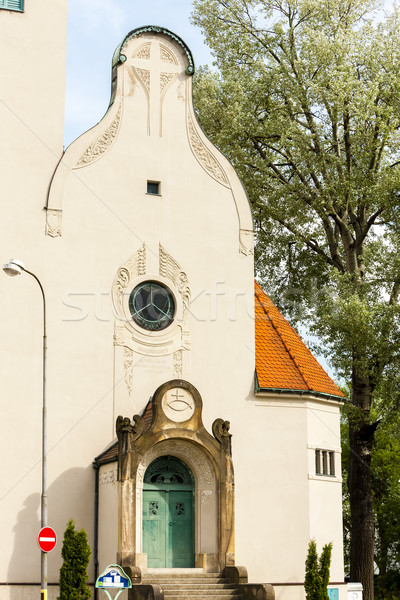 The Church of the exaltation of the Holy Cross, Jablonec nad Nis Stock photo © phbcz