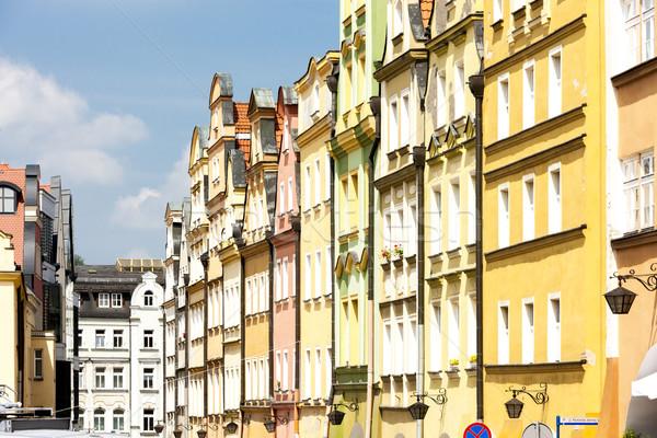 Kare Polonya ev kentsel mimari tarih Stok fotoğraf © phbcz