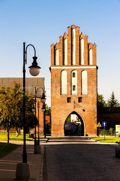 town gate in Paslek, Warmian-Masurian Voivodeship, Poland Stock photo © phbcz