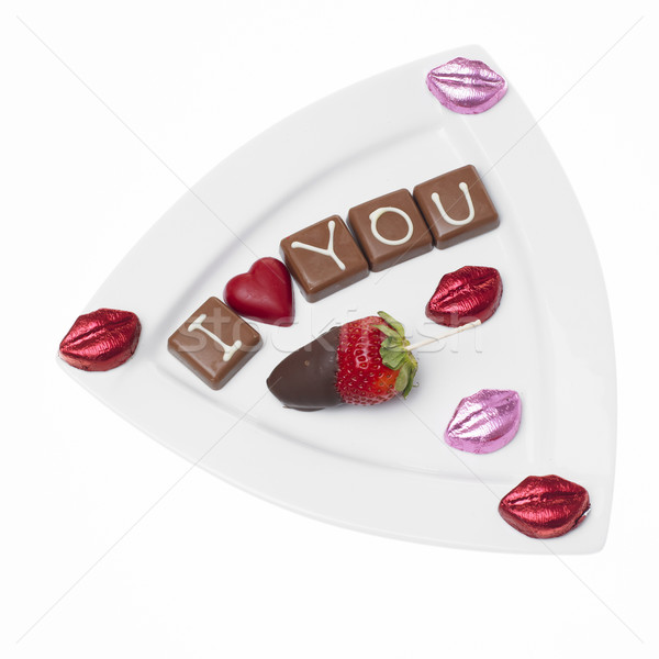 chocolate Saint Valentine Stock photo © phbcz