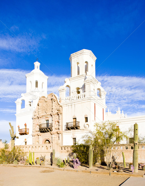 Stock photo: San Xavier del Bac Mission, Arizona, USA