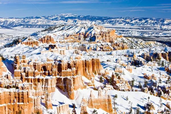 каньон парка зима Юта США пейзаж Сток-фото © phbcz
