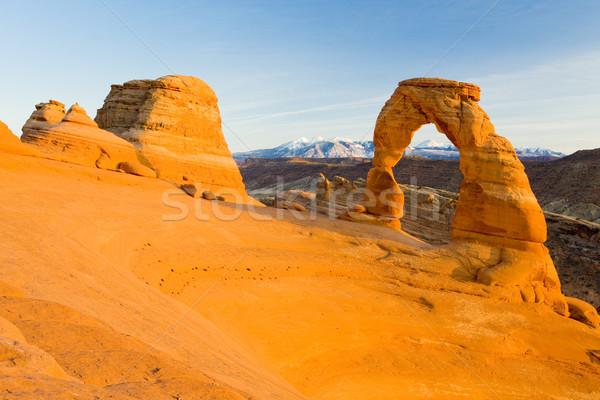 ív park Utah USA tájkép kövek Stock fotó © phbcz