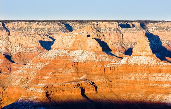 Grand Canyon parku Arizona USA krajobraz śniegu Zdjęcia stock © phbcz