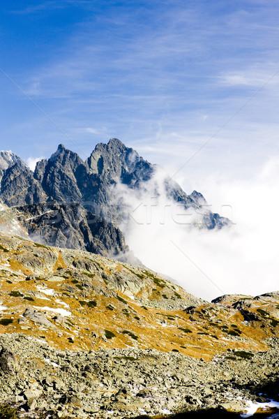 Hoog Slowakije berg wolk park landschappen Stockfoto © phbcz