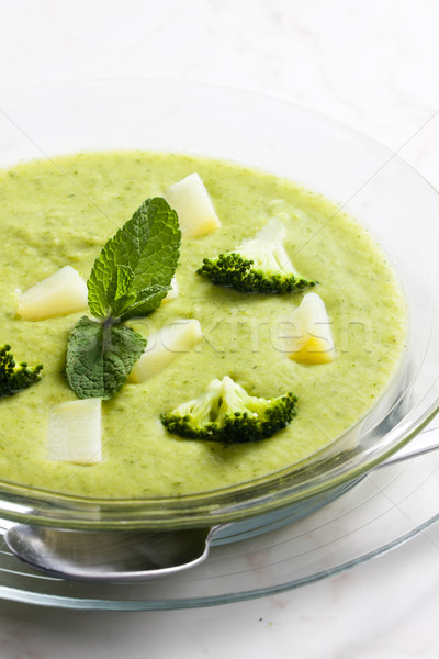 mix potato and broccoli soup Stock photo © phbcz