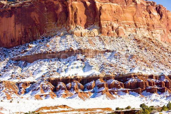 公園 冬 ユタ州 米国 自然 雪 ストックフォト © phbcz