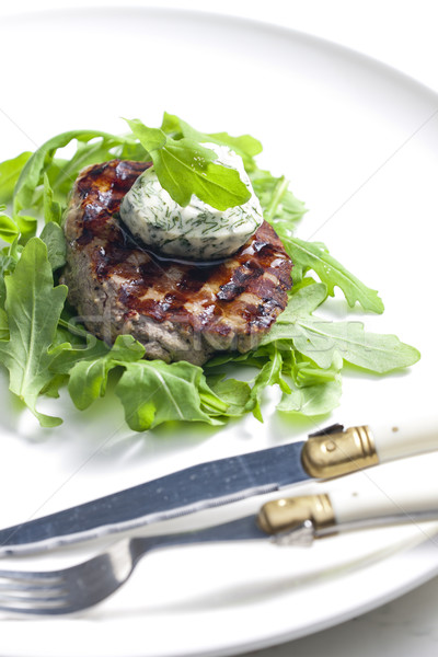 grilled beefsteak with herbal butter Stock photo © phbcz