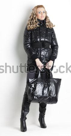 сидят женщину латекс одежды женщины Сток-фото © phbcz