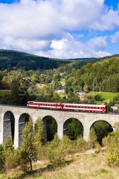 Gép fuvar völgy cseh Csehország híd Stock fotó © phbcz