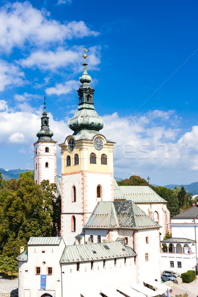 Stad kasteel Slowakije gebouw stad reizen Stockfoto © phbcz