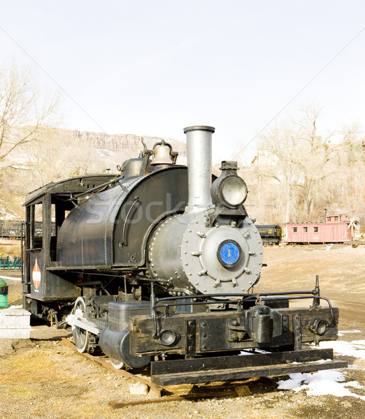 stem locomotive in Colorado Railroad Museum, USA Stock photo © phbcz