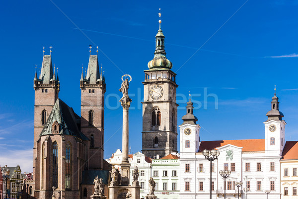 Large Square, Hradec Kralove, Czech Republic Stock photo © phbcz