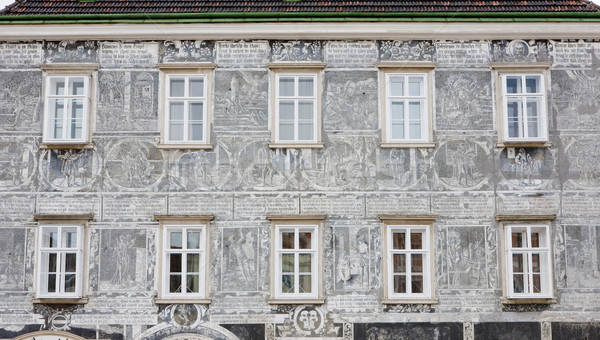 detail of renaissance house, Retz, Lower Austria, Austria Stock photo © phbcz