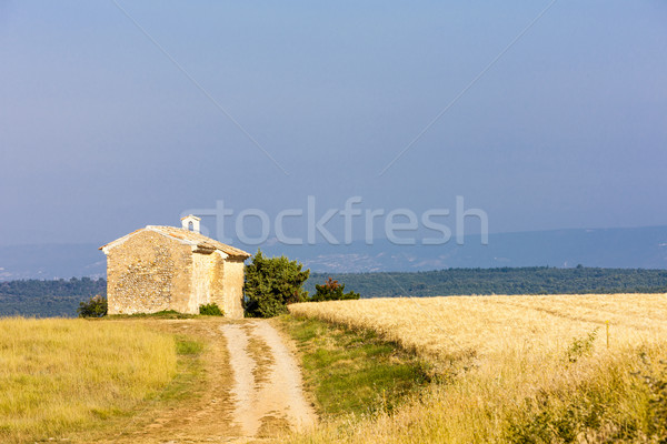Chapelle grain domaine plateau France église Photo stock © phbcz