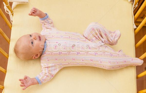 Kettő hónap öreg kislány viskó lány Stock fotó © phbcz