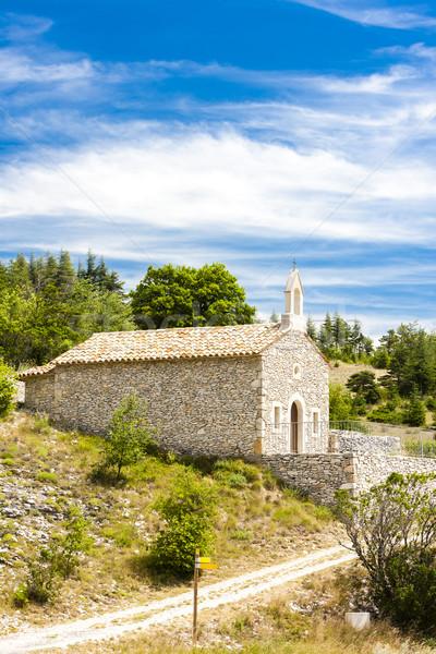 chapel in Le Ventouret, Provence, France Stock photo © phbcz