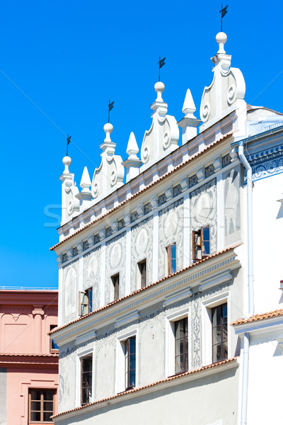 house at Rynek of Old Town, Lublin, Lublin Voivodeship, Poland Stock photo © phbcz