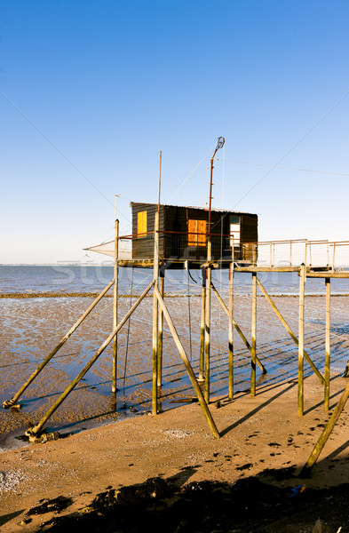 pier with a fishing house, Gironde Department, Aquitaine, France Stock photo © phbcz