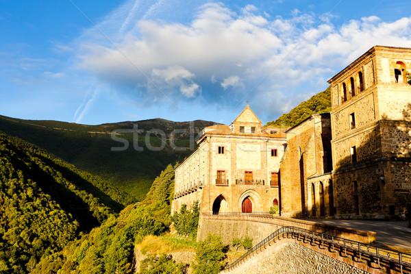 Klooster la Spanje gebouw architectuur buitenshuis Stockfoto © phbcz