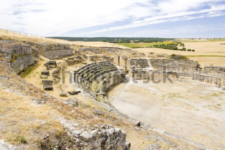 Roman Amphitheatre of Segobriga, Saelices, Castile-La Mancha, Sp Stock photo © phbcz