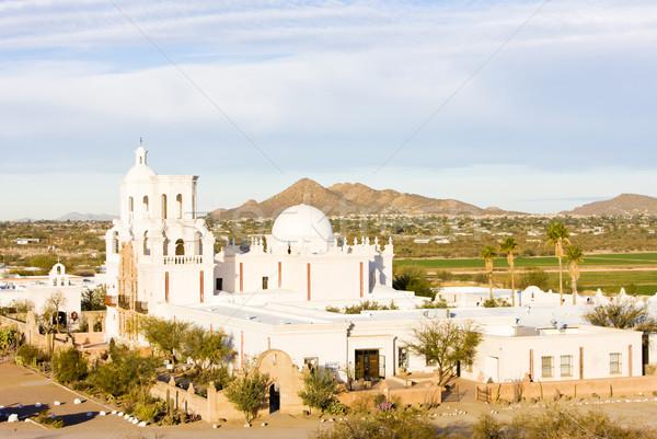 Mission Arizona USA Kirche Architektur Religion Stock foto © phbcz