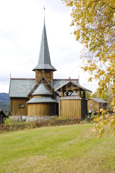 Noruega edificio viaje otono arquitectura historia Foto stock © phbcz
