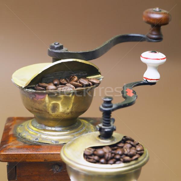 Kawy żywności pić wnętrza napojów świeże Zdjęcia stock © phbcz