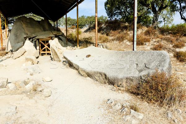 dolmen of Zambujeiro near Evora, Alentejo, Portugal Stock photo © phbcz