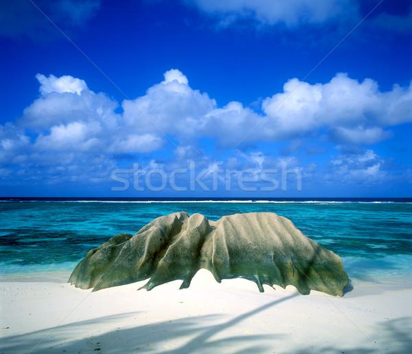 Anse Source D'Argent, La Digue, Seychelles Stock photo © phbcz