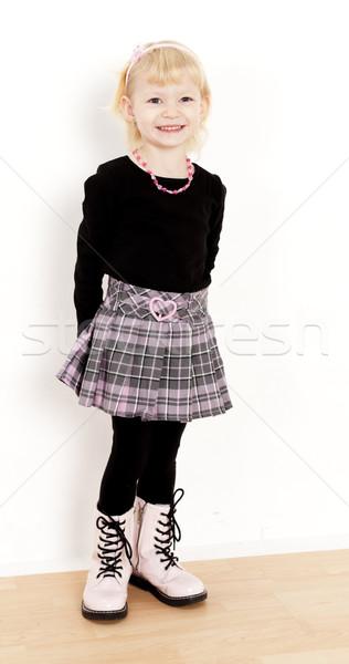 立って 女の子 着用 スカート 少女 子 ストックフォト © phbcz
