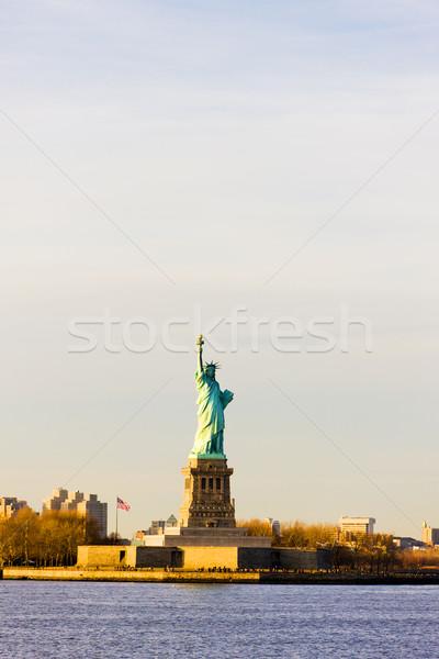 Liberdade ilha estátua Nova Iorque EUA viajar Foto stock © phbcz