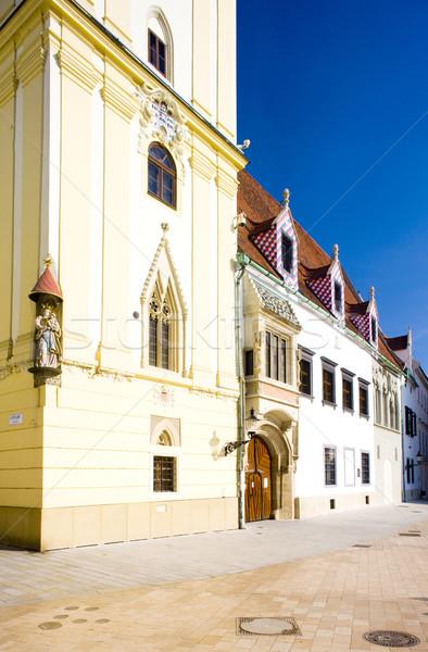 Orasul vechi hol Bratislava Slovacia clădirilor arhitectură Imagine de stoc © phbcz