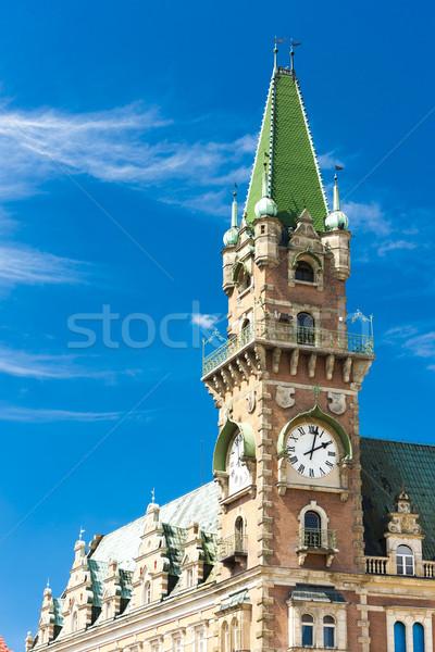 Detail stadhuis Tsjechische Republiek architectuur Europa stad Stockfoto © phbcz