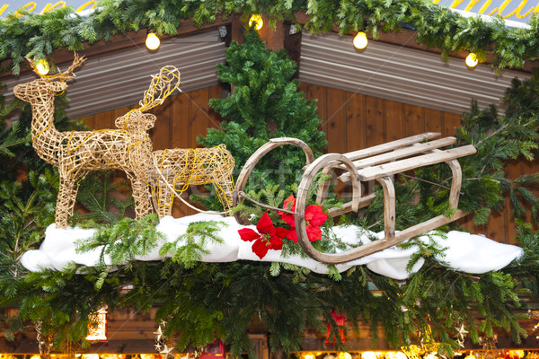 Karácsony piac Bécs Ausztria tárgy dekoráció Stock fotó © phbcz