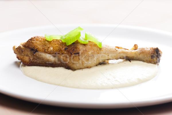 Pollo gamba sedano salsa piatto pasto Foto d'archivio © phbcz