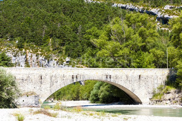 Carejuan Bridge, valley of river Verdon, Provence, France Stock photo © phbcz