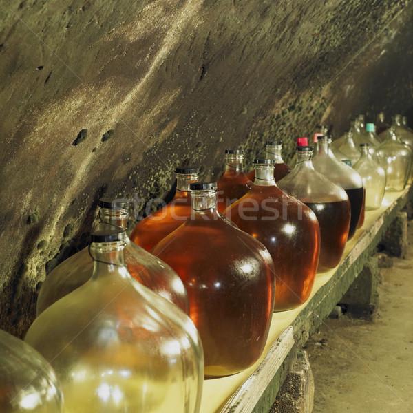 wine cellar, Bily sklep rodiny Adamkovy, Chvalovice, Czech Repub Stock photo © phbcz