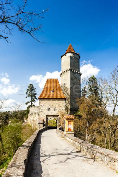 Foto stock: Castelo · República · Checa · arquitetura · história · torre · ao · ar · livre